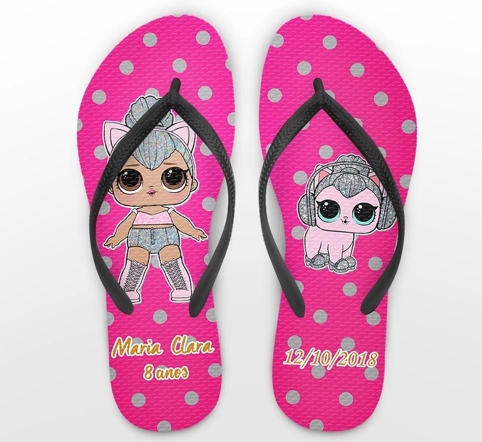 c22760038 chinelo personalizado infantil lol dolls rosa -kit 20 pares. Carregando  zoom.