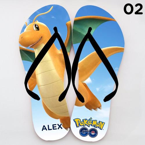 chinelo personalizado pokemon go  coloque o seu nome