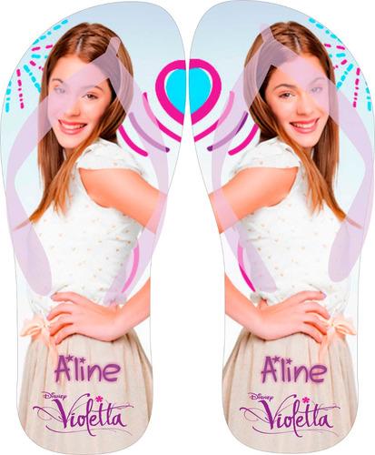 chinelo personalizado violetta com nome - escolha o modelo