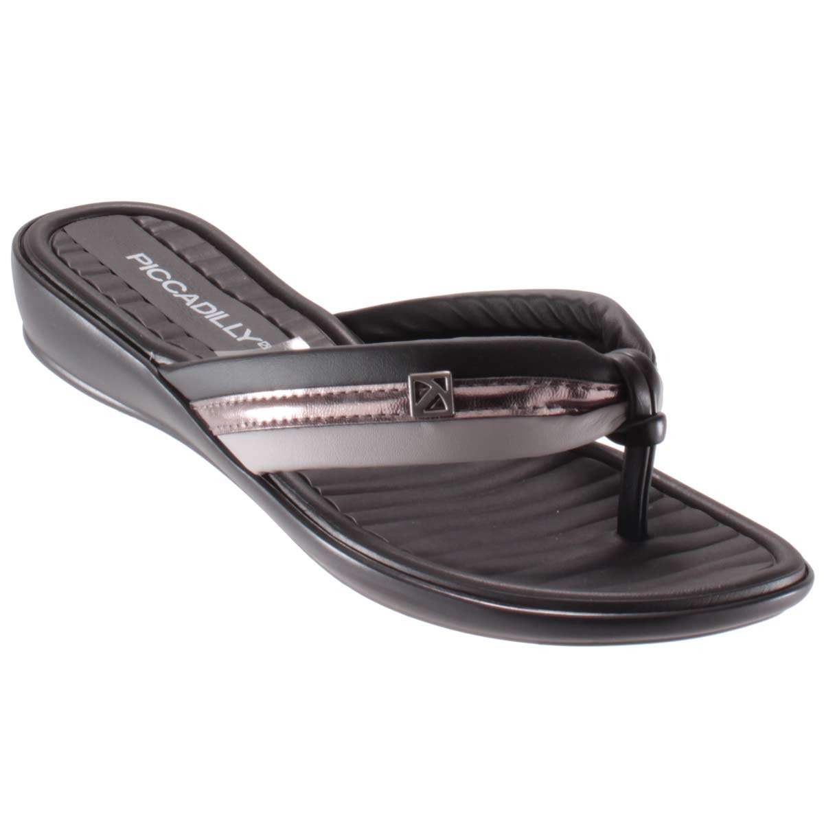 c5eeccee5 Chinelo Piccadilly Pingente Lateral Feminino - Marrom - R$ 89,75 em ...