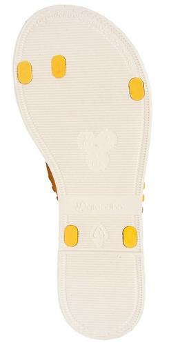 chinelo rasteira grendha resort amarelo 17001