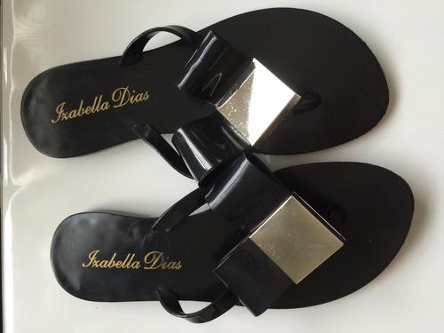 chinelo rasteira plastico laço branco ou preto promoção