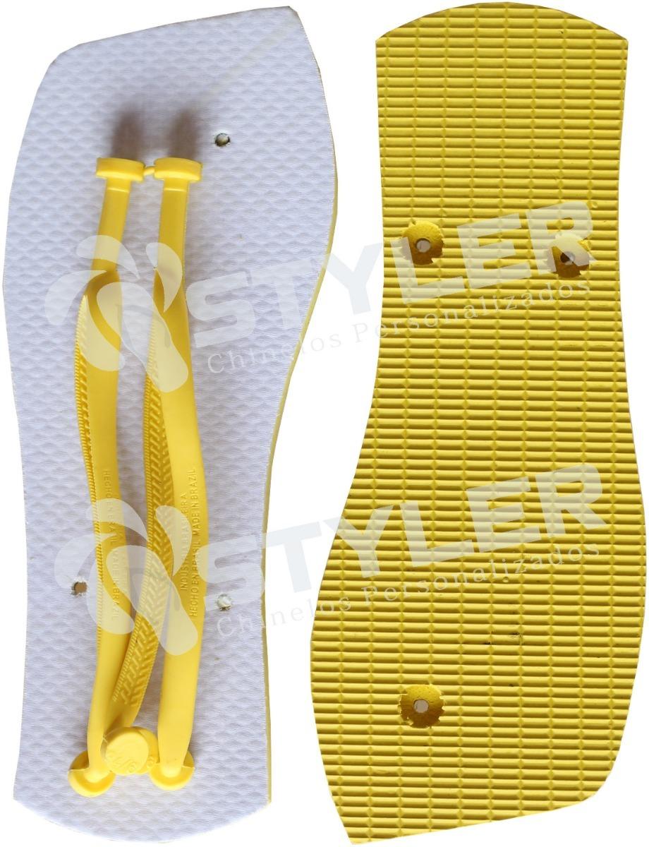 bf9061449a Chinelo Rasteirinha Japonesa Amarelo Para Sublimação