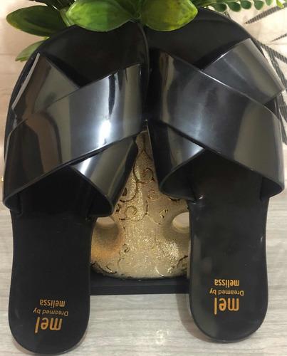 chinelo rasteirinha sandália essential slide melissa