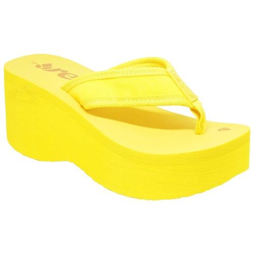 chinelo reef liv screen feminino yellow