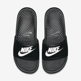 3577344294 Chinelo Masculino Nike Benassi Just Do It Preto Original