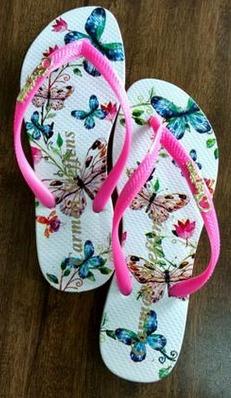 chinelo sandália carmem steffens - modelo slim  lx25