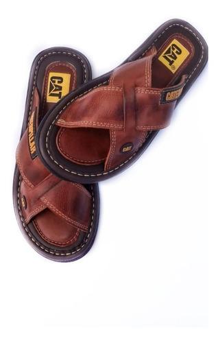 chinelo sandália caterpillar  em tiras 100 % couro !!!