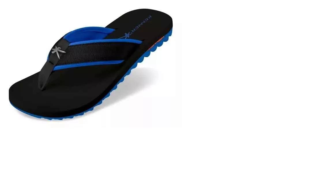 cbdcffcf6e chinelo sandália kenner kivah azul e preto original. Carregando zoom.