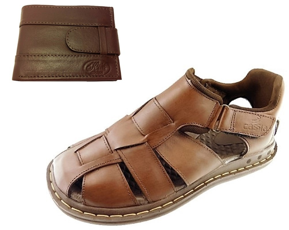 1872518f0d chinelo sandália masculina + carteira de couro com passador. Carregando zoom .