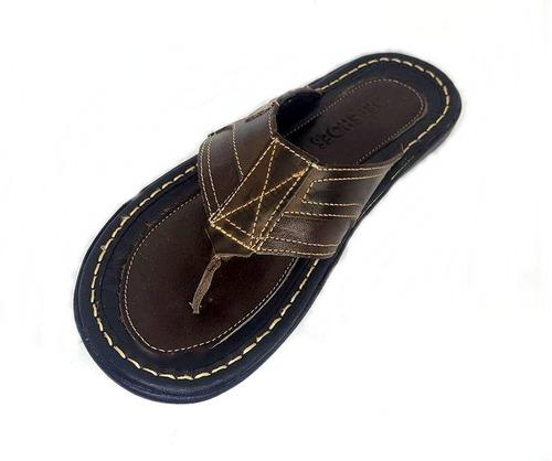 chinelo sandália masculino couro legitimo promoção