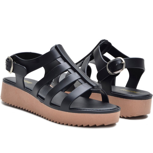 chinelo sandalia mellina plataforma flox tratorada.