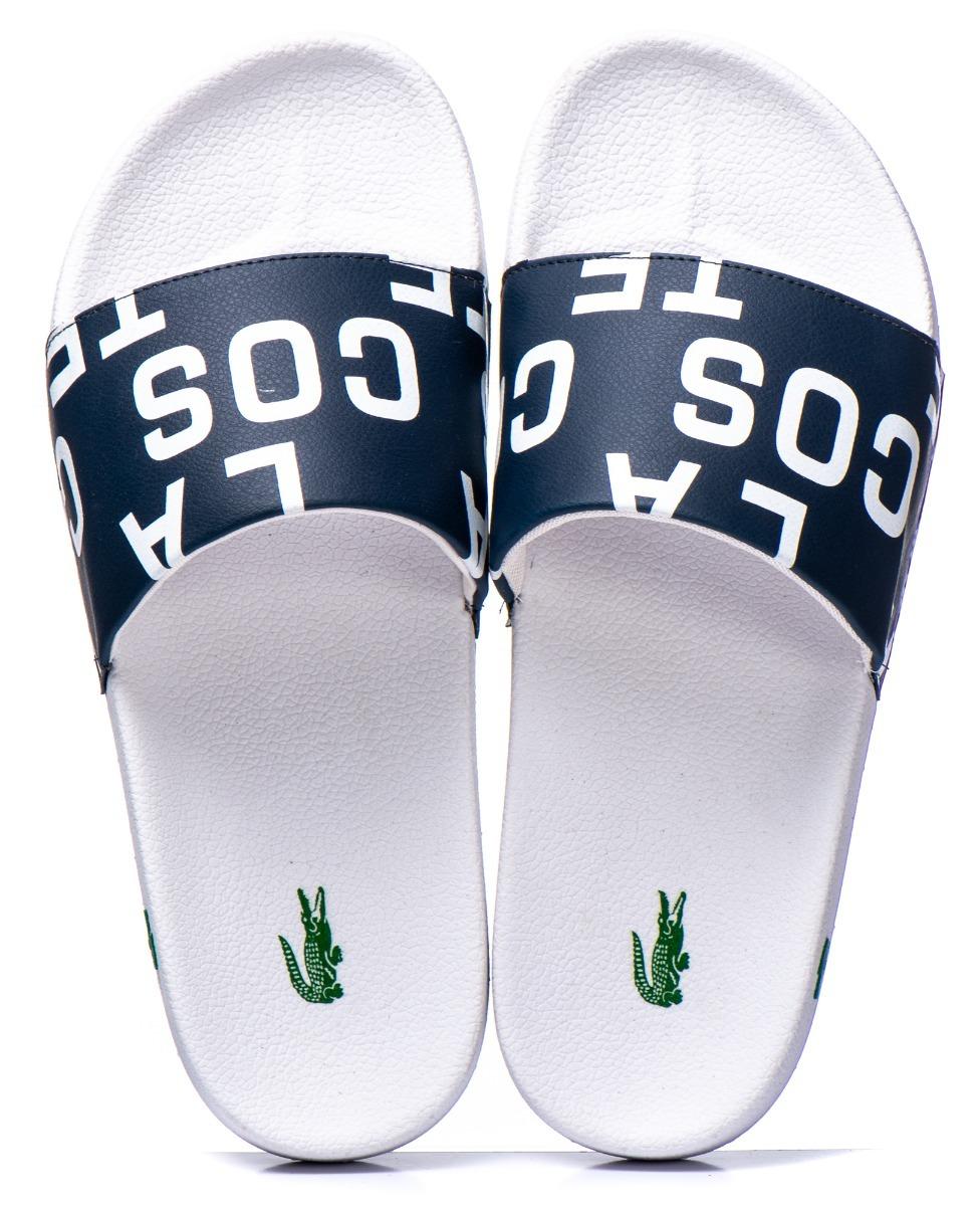 5697cf793b9 chinelo sandália slide lacoste original unissex promoção. Carregando zoom.