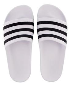 c0e6075fd3a136 Chinelo Slide adidas Adilette Aqua Branco F35539 Orignal