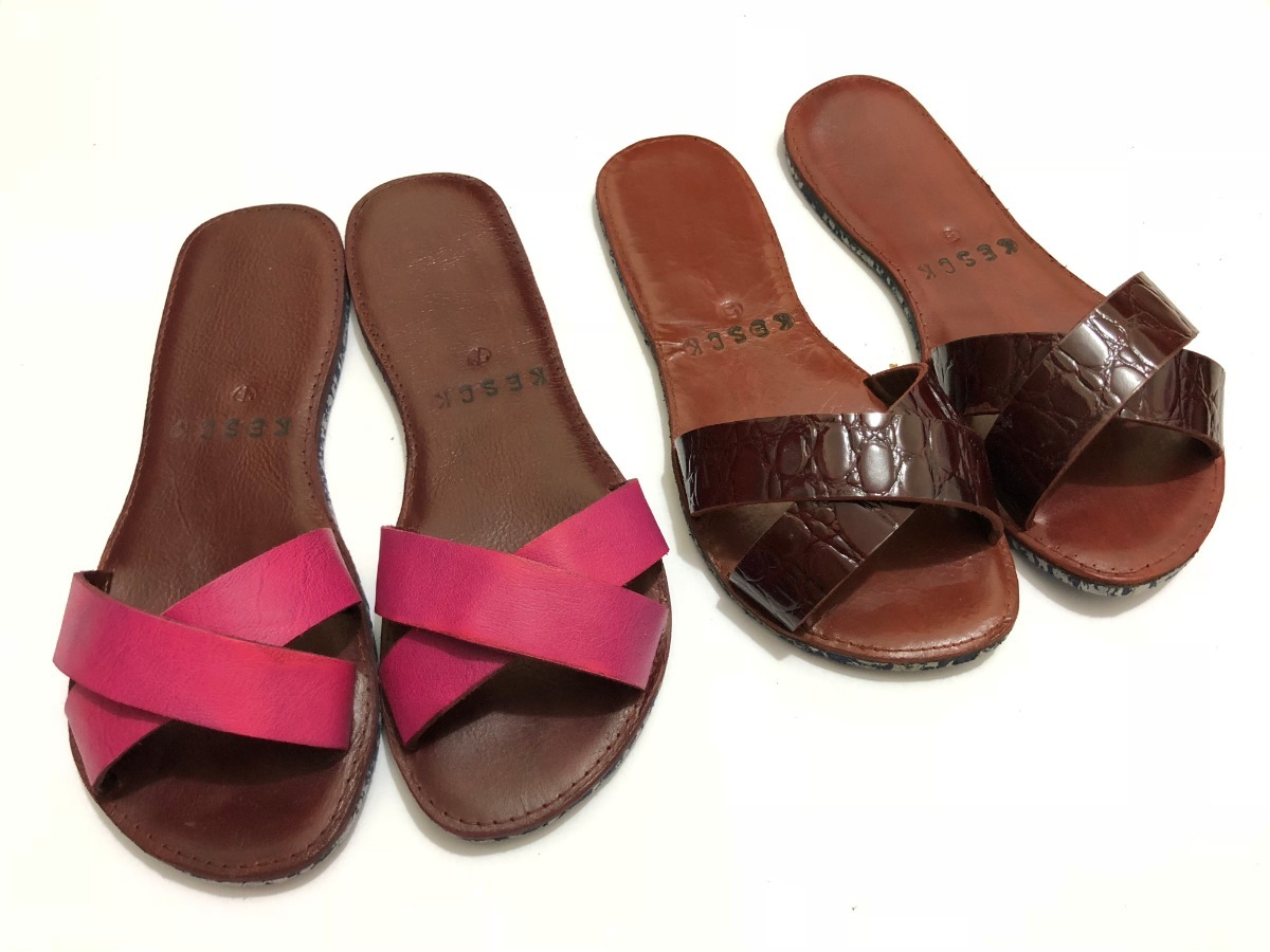 d41689df09 chinelo slide beach feminin sandalia rasteira couro legitimo. Carregando  zoom.