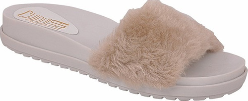 chinelo slide beach pelo pelucia feminino sandalia rasteira