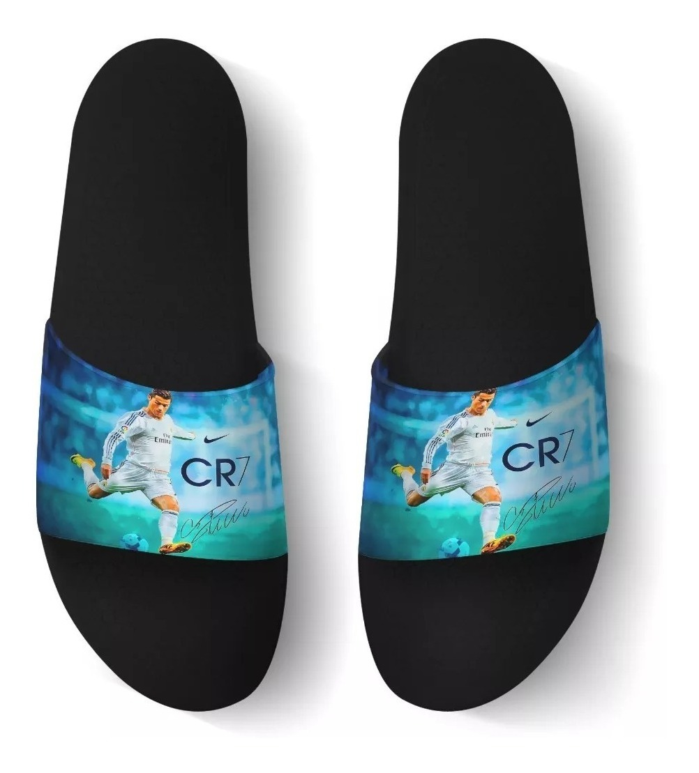 9313387c86b8d2 Chinelo Slide Beach Real Madrid Cr7 Cristiano Benassi Top 02