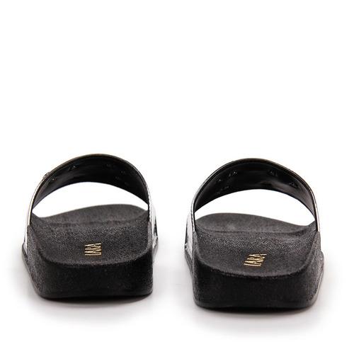 chinelo slide feminino lara - prata