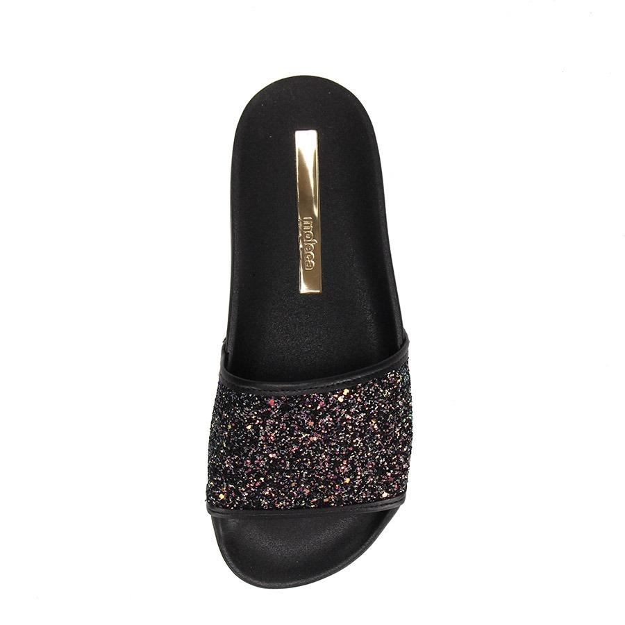 072a005d1 Chinelo Slide Moleca Glitter - Preto - R$ 59,99 em Mercado Livre