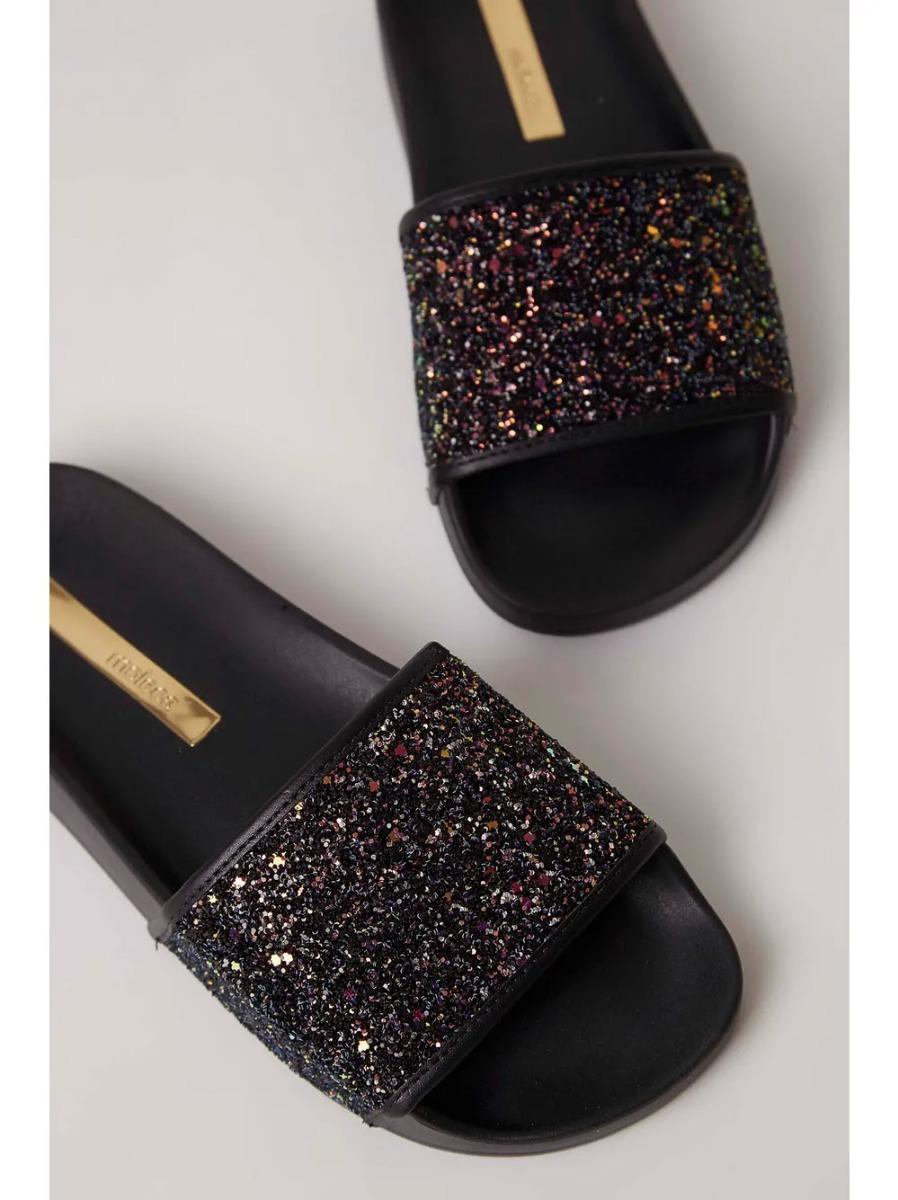 3d1858287 Chinelo Slide Moleca Glitter Preto - R$ 59,99 em Mercado Livre