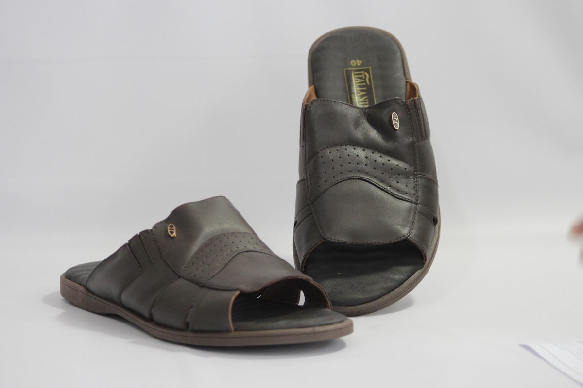 f1c04800a chinelo tradicional masculino em couro italianinho 34116. Carregando zoom.