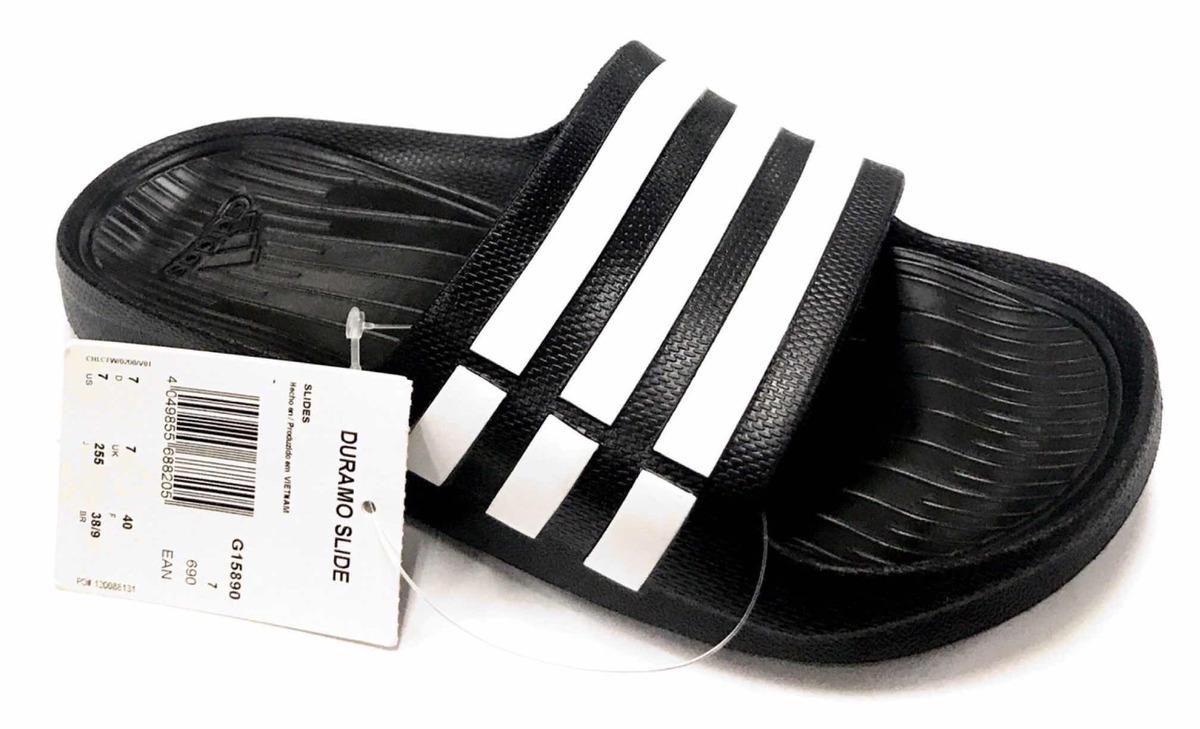 542f75a942 chinelo unissex adidas duramo slide original preto. Carregando zoom.