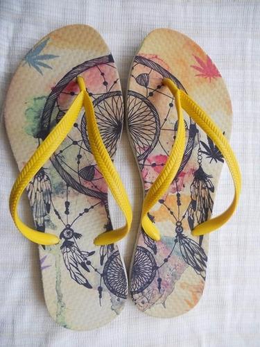 chinelos e sandalias personalizadas
