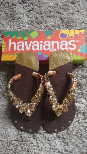 chinelos havaianas customizados