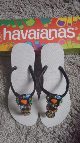chinelos havaianas customizados - praia