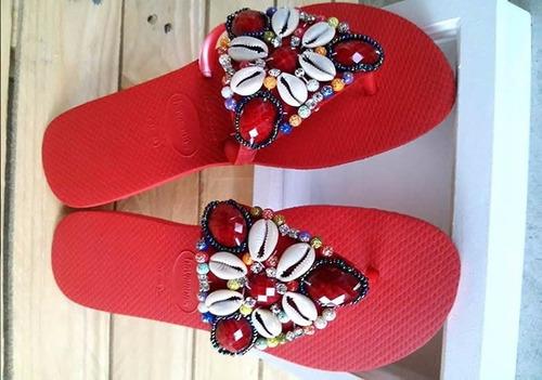 chinelos havaianas estilizados modelo nath
