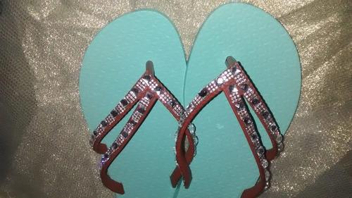 chinelos ipanema customizados