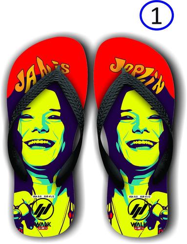 chinelos janis joplin - rock n' roll - rock and roll
