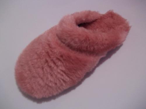 chinelos pantufa de lã com pelucía forrada