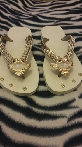 chinelos personalizado com strass havaianas novo