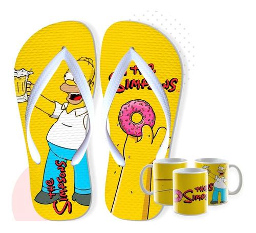 chinelos personalizados + barato do os simpsons