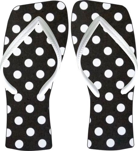 chinelos personalizados - bolas