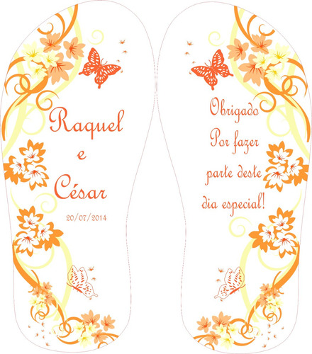chinelos personalizados estampados casamentos wms