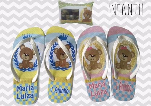 chinelos personalizados festa do pijama spa lembrancinhas