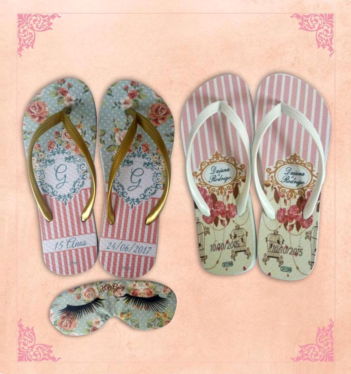 0b9907bbf Chinelos Personalizados Flamingo Rosa Tropical Summer Festa - R$ 6 ...