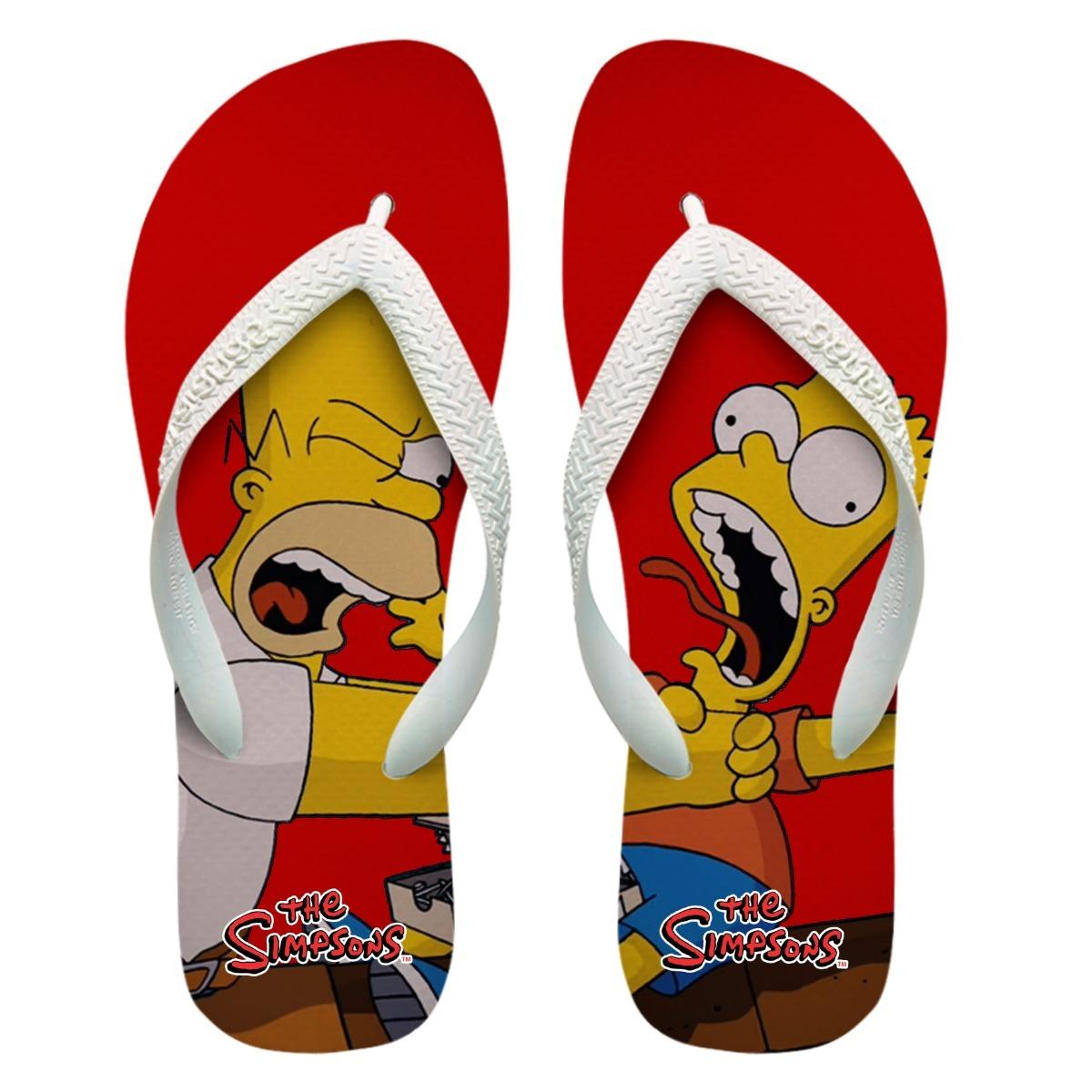 8992445b727 chinelos personalizados havaianas homer e bart simpson  1 . Carregando zoom.