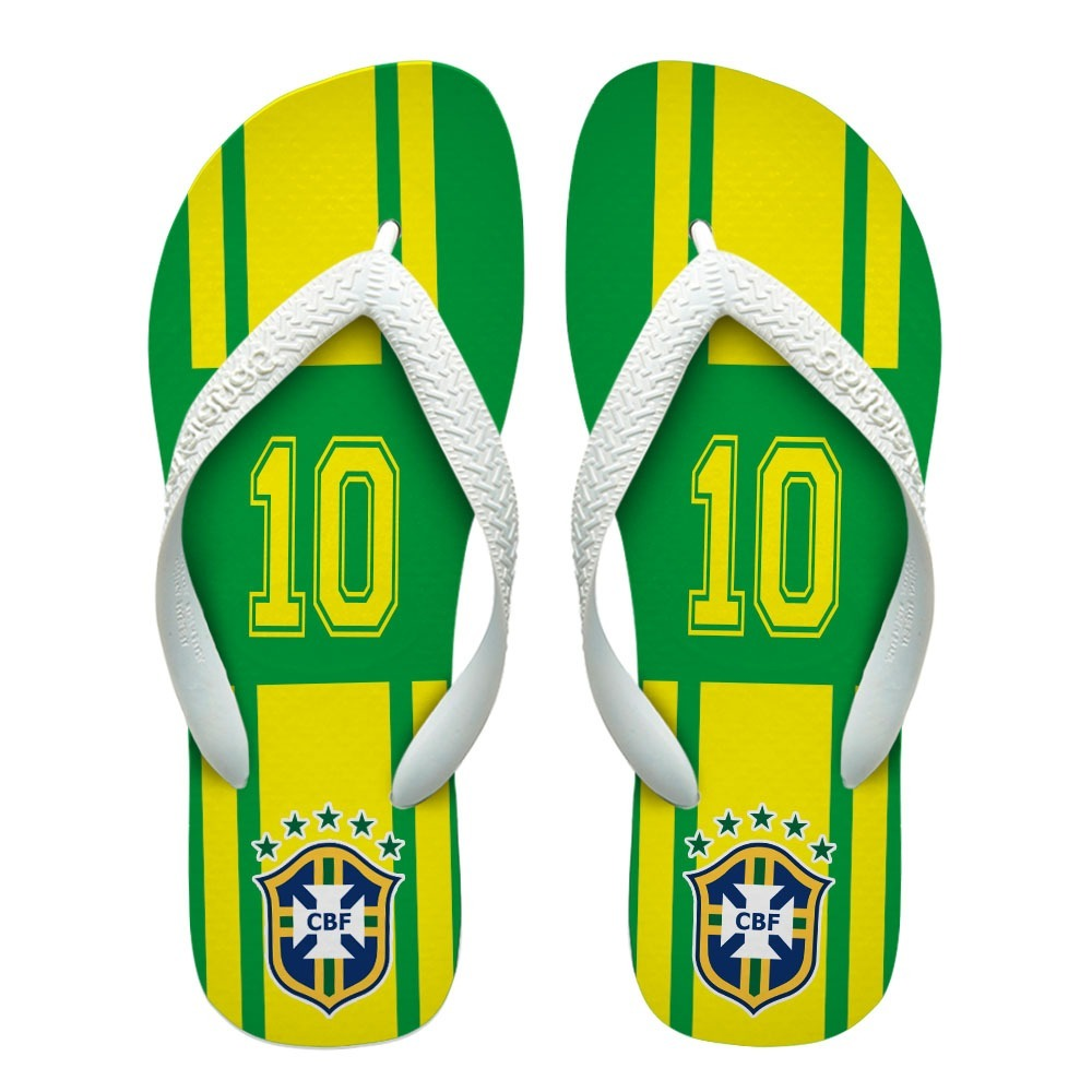 a612ddaf9cca5 Chinelos Personalizados Havaianas Seleção Brasileira  1  - R  45