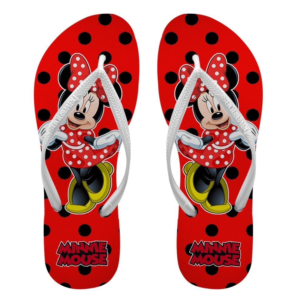 6742d3572 chinelos personalizados havaianas slim minnie mouse - mod 4. Carregando  zoom.