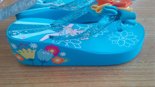 chinelos plataforma disney frozen tamanho europa 24