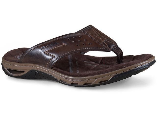 e66b3f8fd Chinelo/sandália Pegada Masculino Em Couro Cravo 131663-03 - R$ 79 ...
