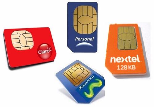 chip a tarjeta sim movistar personal claro prepago celumovil