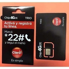 127992605ad Chip Claro 4g Lte Trio - $ 11,00 en Mercado Libre