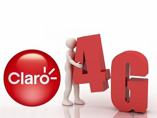 chip claro 4g micro sim adaptador activo prepago