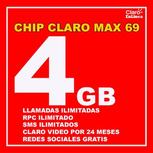 chip claro postpago llamadas y redes sociales ilimitadas