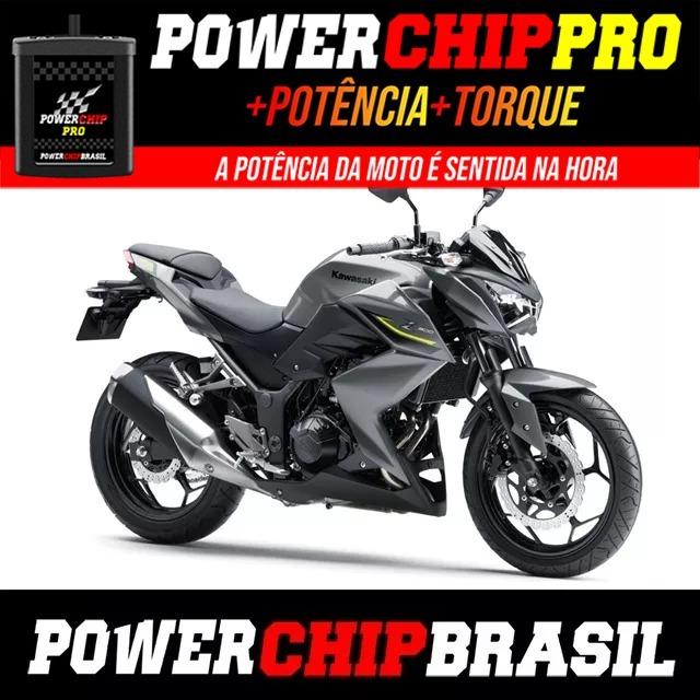 Chip De Potência Moto Kawasaki Z300 39cv 4cv 12tor