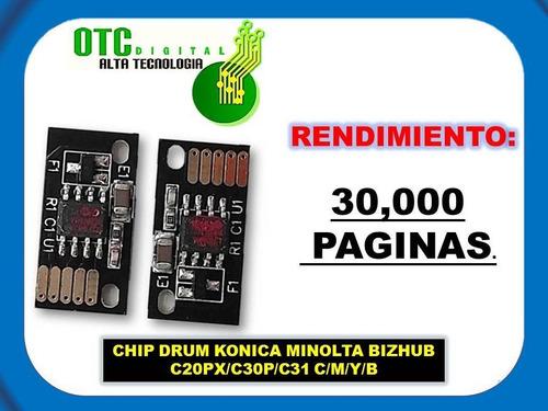 chip drum konica minolta bizhub c20px c30p c31 c/m/y/b